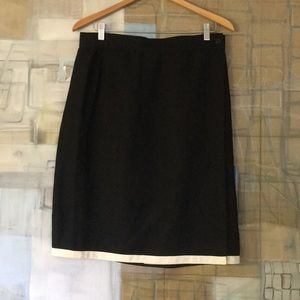 Gianni Versace Black Linen Wrap-Around Skirt
